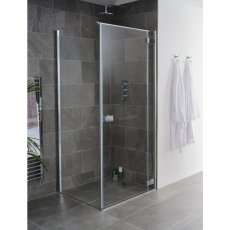 Lakes Grenada Hinged Shower Door 2000mm H x 900mm W - 8mm Glass