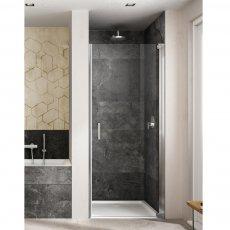 Lakes Italia Amare Semi Frameless Pivot Shower Door 2000mm H x 750mm W - Right Handed