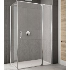 Lakes Italia Rilassa Semi Frameless Pivot Door and In-Line Panel 2000mm H x 1000mm W - Right Handed
