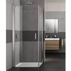 Lakes Italia Vivo Semi Frameless Pivot Shower Door 2000mm H x 750mm W - Left Handed