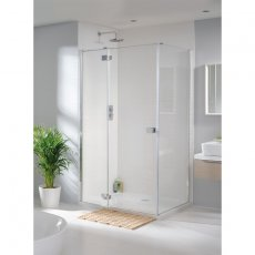 Lakes Tobago Shower Door with Hinged Panel 2000mm H x 1200mm W - 8mm Glass