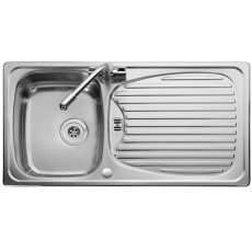 Leisure Euroline EL9501 1.0 Bowl Reversible Kitchen Sink with Waste 950mm L x 508mm W Stainless