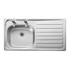 Leisure Lexin LE95R 1.0 Bowl Kitchen Sink RH with Waste 950mm L x 508mm W - Stainless Steel