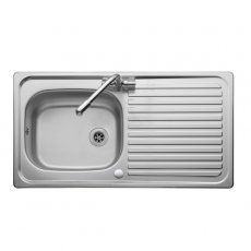 Leisure Linear Compact LR950 1.0 Bowl Kitchen Sink with Waste 950mm L x 508mm W Stainless