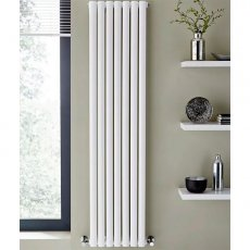 MaxHeat Aspen Double Designer Vertical Radiator 1800mm H x 540mm W White