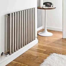 MaxHeat Aspen Single Designer Horizontal Radiator 600mm H x 1200mm W Stainless