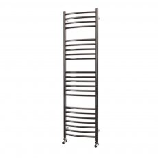 MaxHeat Camborne Curved Towel Rail, 1400mm High x 400mm Wide, Polished Stainless Steel
