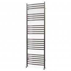 MaxHeat Camborne Curved Heated Towel Rail 1600mm H x 500mm W Stainless Steel