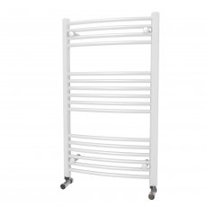 MaxHeat Camborne Curved Towel Rail, 1000mm High x 600mm Wide, White
