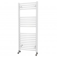 MaxHeat Camborne Curved Towel Rail, 1200mm High x 500mm Wide, White