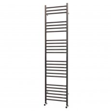MaxHeat Falmouth Straight Towel Rail, 1600mm High x 400mm Wide, Polished Stainless Steel