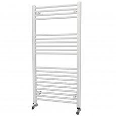 MaxHeat Falmouth Straight Towel Rail, 1200mm High x 600mm Wide, White