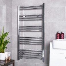 MaxHeat G4K Straight Heated Towel Rail 1600mm H x 600mm W - Chrome