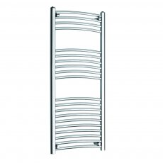 MaxHeat K-Rail 25mm Curved Towel Rail 1200mm H x 500mm W - Chrome