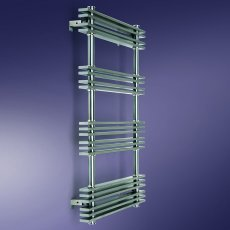 MaxHeat Maryland Designer Heated Towel Rail 784mm H x 500mm W Brushed Stainless Steel