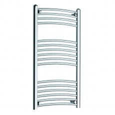MaxHeat MaxRail Curved Heated Towel Rail 1000mm H x 300mm W Chrome