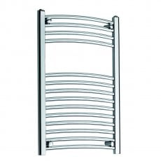 MaxHeat MaxRail Curved Heated Towel Rail 800mm H x 600mm W Chrome