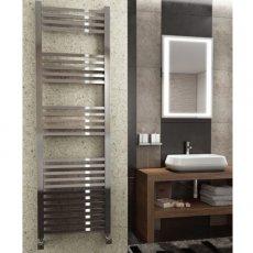Maxheat MaxRail Squared Designer Towel Rail, 1200mm High x 500mm Wide, Chrome