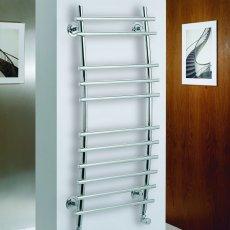 MaxHeat Phoenix Designer Heated Towel Rail 1150mm H x 500mm W Chrome