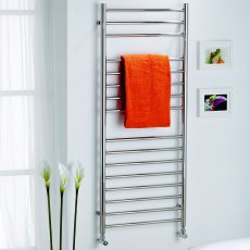 MaxHeat Ripley Straight Heated Towel Rail 720mm H x 600mm W Stainless Steel