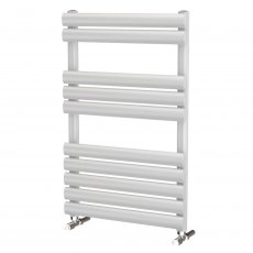 MaxHeat Saltash Designer Towel Rail, 825mm High x 500mm Wide, White