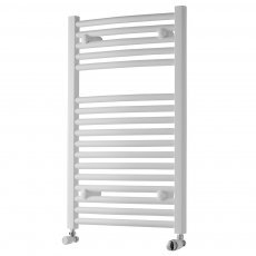 MaxHeat Trade Curved Heated Towel Rail - 800mm High x 600mm Wide - White