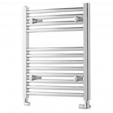 MaxHeat Trade Straight Heated Towel Rail - 600mm High x 450mm Wide - Chrome