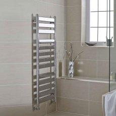 MaxHeat York Flat Panel Heated Towel Rail 952mm H x 500mm W Chrome