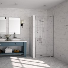 Merlyn 10 Series Pivot Shower Door 1000mm Wide - Clear Glass