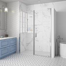 Merlyn 10 Series Inline Pivot Shower Door 1700mm Wide - Clear Glass