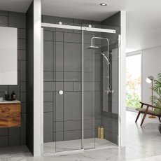Merlyn 10 Series Sliding Shower Door with Tray 1500mm Wide Right Handed - 10mm Glass