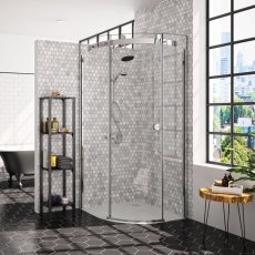 Merlyn 10 Series Single Quadrant Shower Enclosure 800mm x 800mm Right Handed - Clear Glass