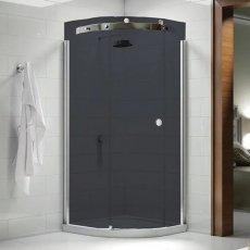Merlyn 10 Series Single Quadrant Shower Enclosure 900mm x 900mm Left Handed - Smoked Black Glass