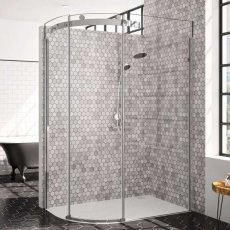 Merlyn 10 Series Single Offset Quadrant Shower Enclosure 1400mm x 800mm LH - 10mm Glass