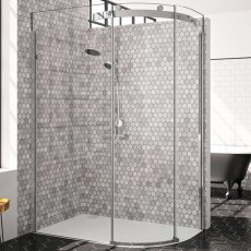 Merlyn 10 Series Single Offset Quadrant Shower Enclosure with Tray 1200mm x 800mm RH - Clear Glass