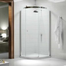 Merlyn 10 Series Single RH Quadrant Shower Enclosure with Tray - 800mm x 800mm - Clear Glass