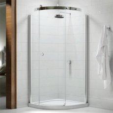 Merlyn 10 Series Single RH Quadrant Shower Enclosure with Tray - 900mm x 900mm - Clear Glass
