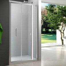 Merlyn 6 Series Inline Bi-Fold Shower Door 700mm Wide - Clear Glass