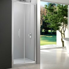 Merlyn 6 Series Bi-Fold Shower Door 700mm Wide - 6mm Glass
