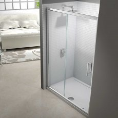 Merlyn 6 Series Sliding Shower Door 1200mm Wide - Clear Glass