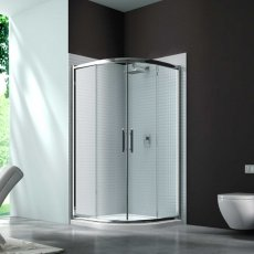 Merlyn 6 Series Quadrant Shower Enclosure 1000mm Wide - Clear Glass