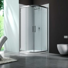 Merlyn 6 Series Quadrant Shower Enclosure with Tray 800mm x 800mm - Clear Glass