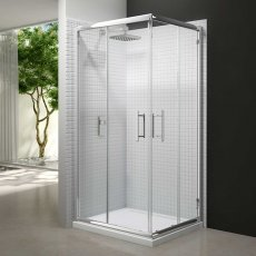 Merlyn 6 Series Corner Entry Shower Enclosure with Tray 900mm Wide - Clear Glass