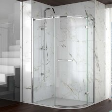 Merlyn 8 Series Frameless Offset Quadrant Shower Enclosure 1200mm x 800mm - 8mm Glass