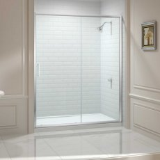 Merlyn 8 Series Sliding Shower Door with Tray 1200mm Wide - Clear Glass