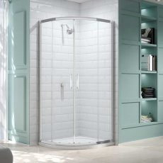 Merlyn 8 Series Quadrant Shower Enclosure with Tray 1000mm x 1000mm - Clear Glass