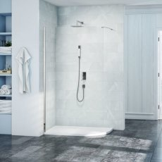 Merlyn 8 Series Curved Wet Room Glass Panel 1000mm Wide - 8mm Glass