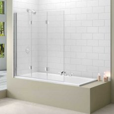 Merlyn Ionic Three Panel Folding Bath Screen, 1500mm H x 1400mm W, 8mm Glass