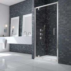 Merlyn Ionic Essence Framed Pivot Shower Door 800mm Wide - 8mm Glass