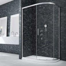 Merlyn Ionic Essence Framed Offset Quadrant Shower Enclosure 1000mm x 800mm - 8mm Glass